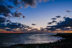 Sonnenuntergang an der Südküste Helgolands