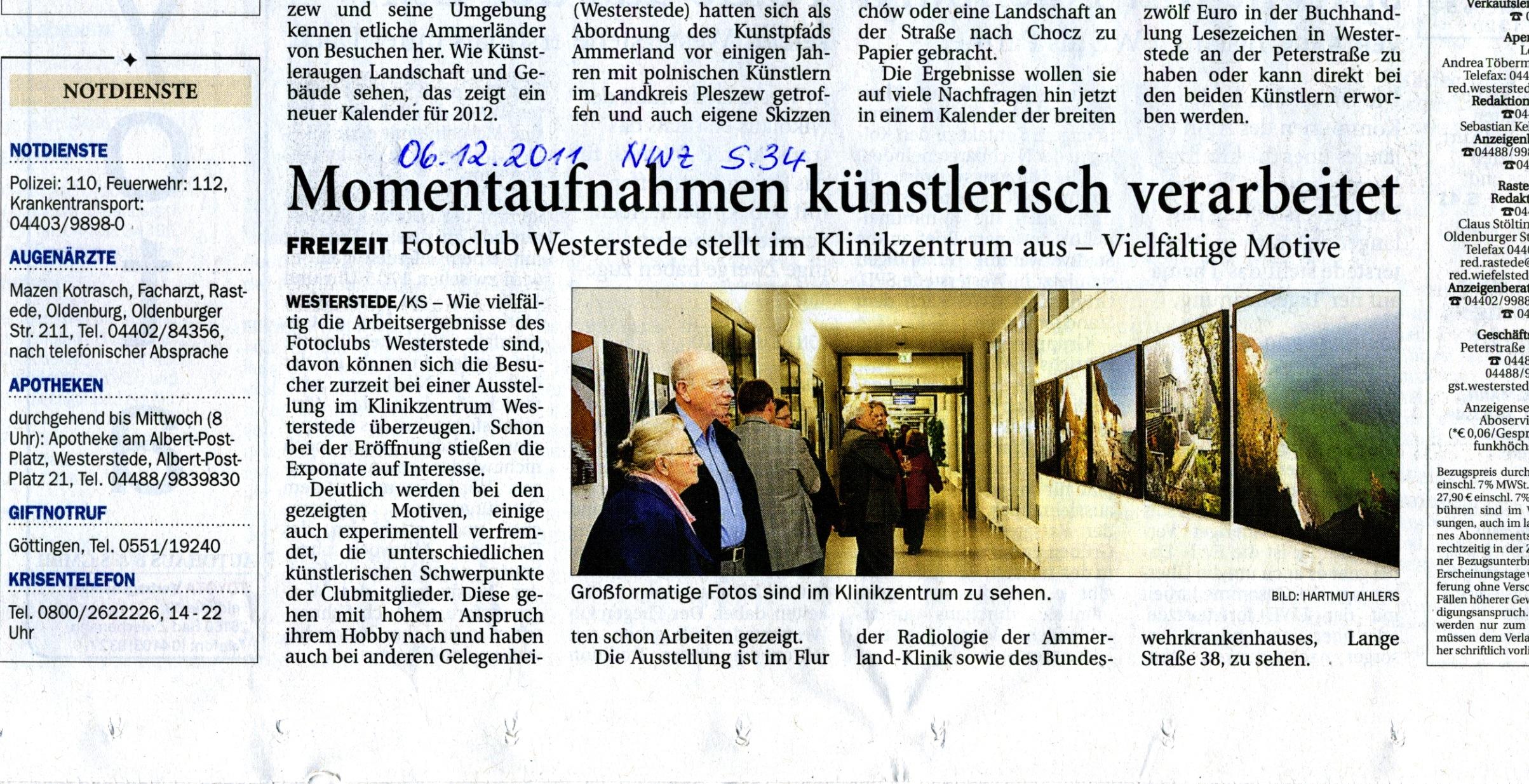 25.November 2011 - Ausstellung / Vernissage Klinikzentrum WST